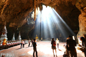 【催行終了】 神秘の洞窟タムカオルアン&カニなどのシーフードを満喫する日帰り旅のサムネイル画像