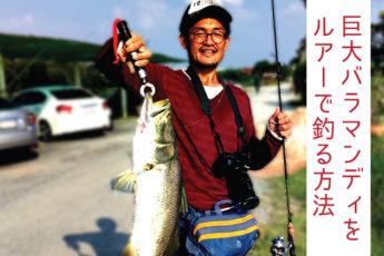 【日本語可のタイ人がご案内】バンコク近郊の釣り堀で巨大バラマンディを釣る日帰りツアーのサムネイル画像