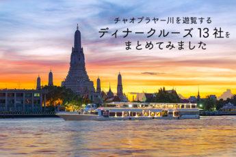タイの母なる川を遊覧する  チャオプラヤーディナークルーズ13社をまとめましたのサムネイル画像