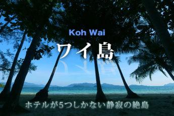 ワイ島  ーホテルが5つしかない静寂の絶島ーのサムネイル画像